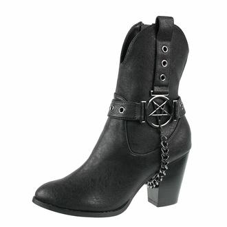 boty dámské KILLSTAR - Coven Cowboy - Black - KSRA003316