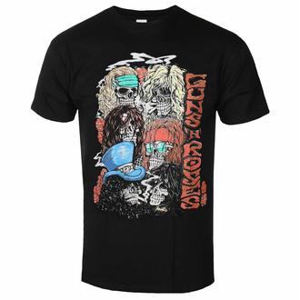 tričko pánské Guns N' Roses - Stacked Skulls - Black - ROCK OFF, ROCK OFF, Guns N' Roses