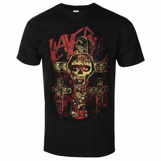 tričko pánské Slayer - SOS Crucifiction - Black - ROCK OFF, ROCK OFF, Slayer
