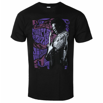tričko pánské Jimi Hendrix - Purple Haze - Black - ROCK OFF, ROCK OFF, Jimi Hendrix