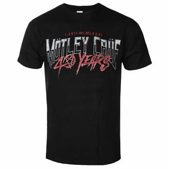 tričko pánské Mötley Crüe - 40 Years F&B - Black - ROCK OFF, ROCK OFF, Mötley Crüe