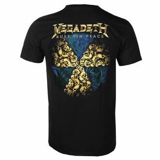tričko pánské Megadeth - Rust In Peace 30th Anniversary - Black - ROCK OFF, ROCK OFF, Megadeth