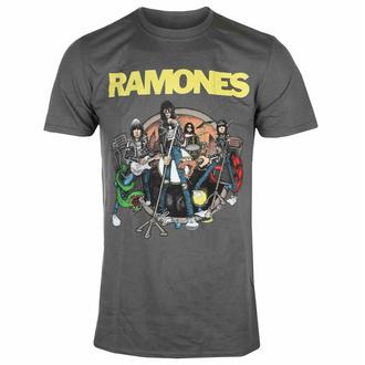tričko pánské Ramones - Road To Ruin - Charcoal - ROCK OFF, ROCK OFF, Ramones