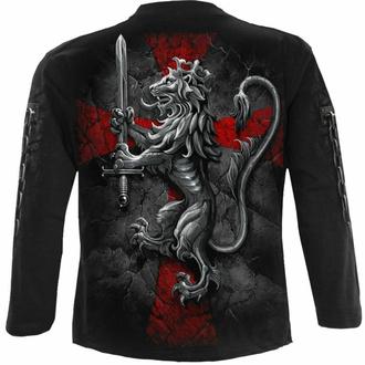 tričko pánské s dlouhým rukávem SPIRAL - VALIANT - Black, SPIRAL