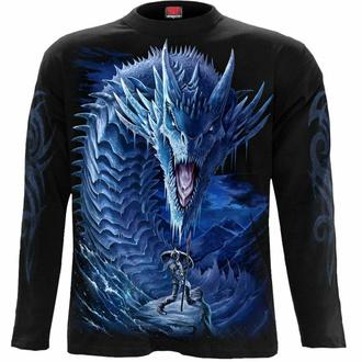 tričko pánské s dlouhým rukávem SPIRAL - ICE DRAGON - Black, SPIRAL