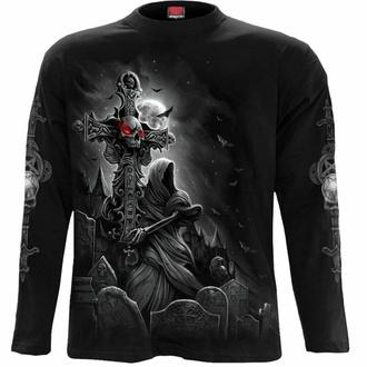 tričko pánské s dlouhým rukávem SPIRAL - GRAVE WALKER - Black, SPIRAL