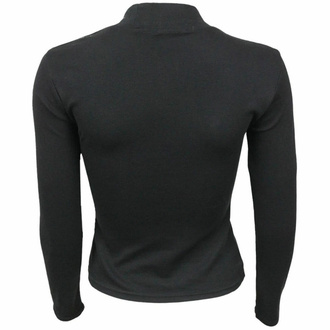 tričko dámské s dlouhým rukávem SPIRAL - CROW QUEEN - Black, SPIRAL
