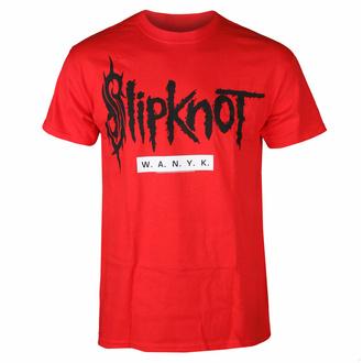 tričko pánské Slipknot - WANYK Red - DRM130419