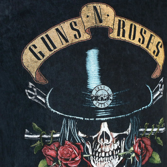 tričko pánské Guns N' Roses - Appetite Washed - BL Dip-Dye - ROCK OFF, ROCK OFF, Guns N' Roses
