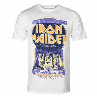tričko pánské Iron Maiden - Powerslave Japan Flyer WHT - ROCK OFF, ROCK OFF, Iron Maiden