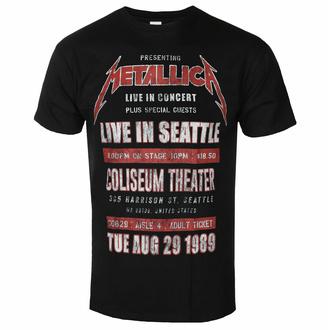 tričko pánské Metallica - Seattle '89 BL ECO - ROCK OFF, ROCK OFF, Metallica