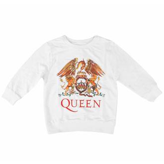 tričko dětské s dlouhým rukávem Queen - Classic WHT - ROCK OFF, ROCK OFF, Queen