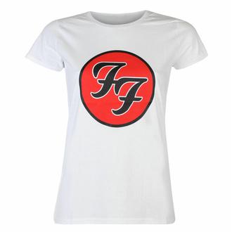 tričko dámské Foo Fighters - Logo WHT - ROCK OFF, ROCK OFF, Foo Fighters