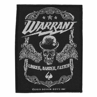 nášivka Warrant - Louder Harder Faster - ROCK OFF, ROCK OFF, Warrant