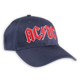 kšiltovka AC/DC - Red Logo Navy - ROCK OFF, ROCK OFF, AC-DC