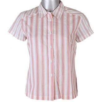 košile dámská krátký rukáv FUNSTORM - JUNE - 23 ORANŽOVÁ