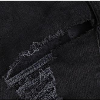 kalhoty dámské DISTURBIA - Black Metal - DIS801-BLK - POŠKOZENÉ, DISTURBIA