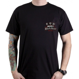 tričko pánské BLACK HEART - KING ROAD - BLACK, BLACK HEART