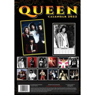 kalendář na rok 2022 - QUEEN, NNM, Queen