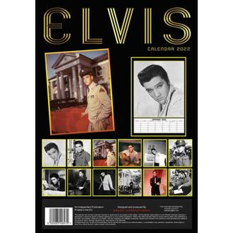 kalendář na rok 2022 - ELVIS PRESLEY, NNM, Elvis Presley
