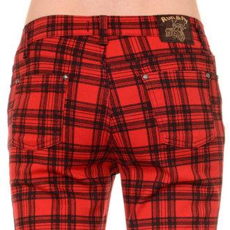 kalhoty (unisex) 3RDAND56th - Checked - Black/Red