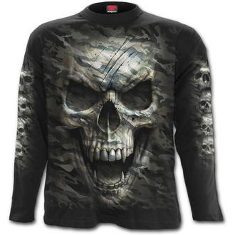 tričko pánské s dlouhým rukávem SPIRAL - CAMO-SKULL - Black - T141M301