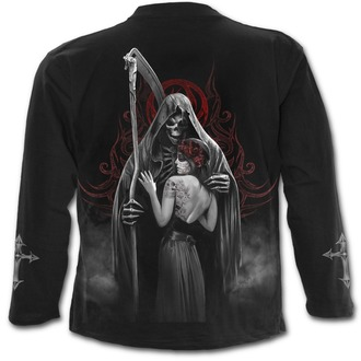 tričko pánské s dlouhým rukávem SPIRAL - DEAD KISS - Black - D076M301