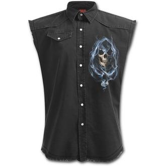 košile pánská bez rukávů SPIRAL - GHOST REAPER - Black, SPIRAL