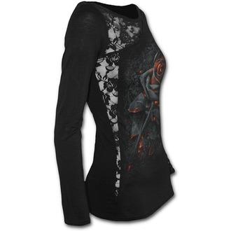 tričko dámské s dlouhým rukávem SPIRAL - BURNT ROSE - Black, SPIRAL