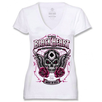 tričko dámské BLACK HEART - ROYAL - WHITE, BLACK HEART
