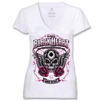 tričko dámské BLACK HEART - ROYAL - WHITE - 010-0128-WHT