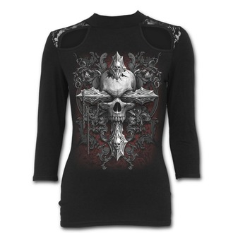 tričko dámské s 3/4 rukávem SPIRAL - CROSS OF DARKNESS, SPIRAL