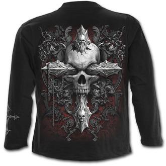 tričko pánské s dlouhým rukávem SPIRAL - CROSS OF DARKNESS - Black, SPIRAL