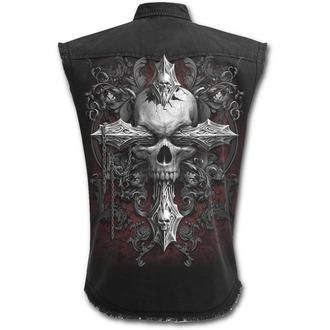 košile pánská bez rukávů SPIRAL - CROSS OF DARKNESS - Black, SPIRAL