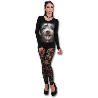 tričko dámské s dlouhým rukávem SPIRAL - MISTY EYES - Baggy Top Black, SPIRAL