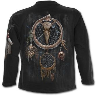 tričko pánské s dlouhým rukávem SPIRAL - VOODOO CATCHER - Black, SPIRAL