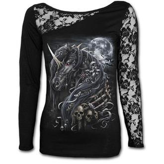 tričko dámské s dlouhým rukávem SPIRAL - DARK UNICORN - Black, SPIRAL