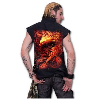 košile pánská bez rukávů SPIRAL - PHOENIX ARISEN - Black, SPIRAL