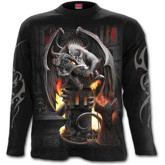 tričko pánské s dlouhým rukávem SPIRAL - KEEPER OF THE FORTRESS - Black, SPIRAL