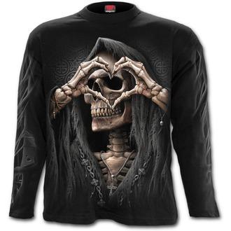 tričko pánské s dlouhým rukávem SPIRAL - DARK LOVE - Black, SPIRAL