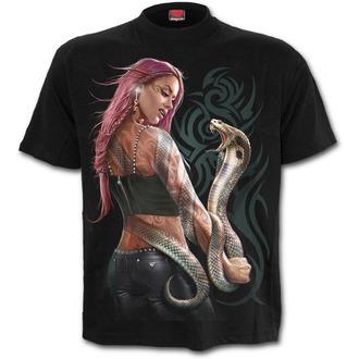 tričko pánské SPIRAL - SERPENT TATTOO - Black, SPIRAL