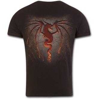 tričko pánské SPIRAL - DRAGON FURNACE - Black, SPIRAL