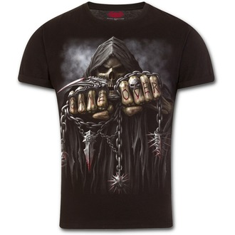 tričko pánské SPIRAL - GAME OVER - Black, SPIRAL