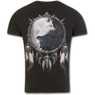 tričko pánské SPIRAL - WOLF CHI -  Black - T118M135