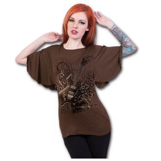 tričko dámské SPIRAL - NIGHT RIFFS - Chocolate, SPIRAL