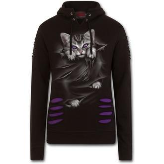 mikina dámská SPIRAL - BRIGHT EYES - Purple-Black, SPIRAL