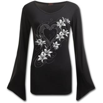 tričko dámské s dlouhým rukávem SPIRAL - PURE OF HEART - Black, SPIRAL