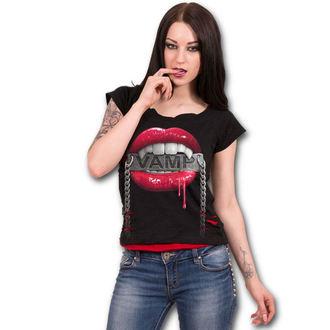 tričko dámské SPIRAL - FANGS - Black, SPIRAL