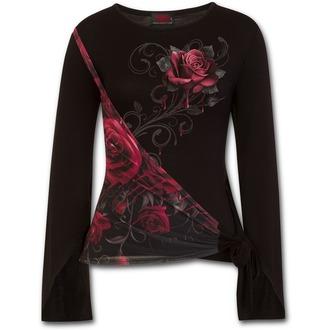 tričko dámské s dlouhým rukávem SPIRAL - ROSE SLANT - Blood Rose, SPIRAL