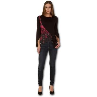 tričko dámské s dlouhým rukávem SPIRAL - GOTHIC ELEGANCE - Blood Rose, SPIRAL